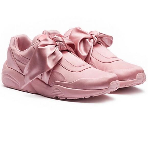 Puma Shoes   Puma Womens Pink Bow Fenty